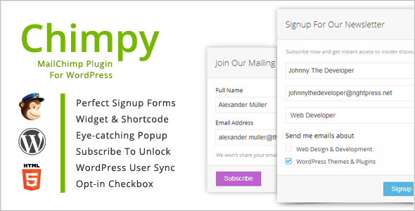 Chimpy - MailChimp WordPress Plugin