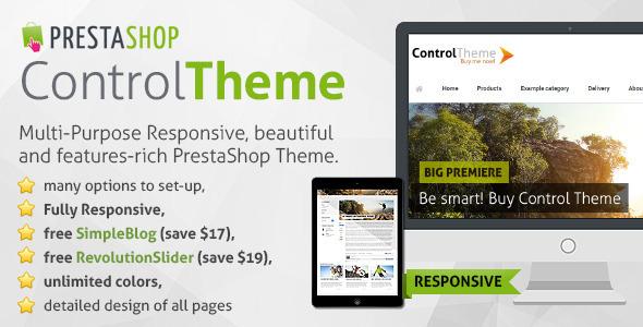 Control - Responsive PrestaShop Theme + Blog