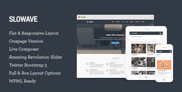 Slowave - Multipurpose Responsive WordPress Theme