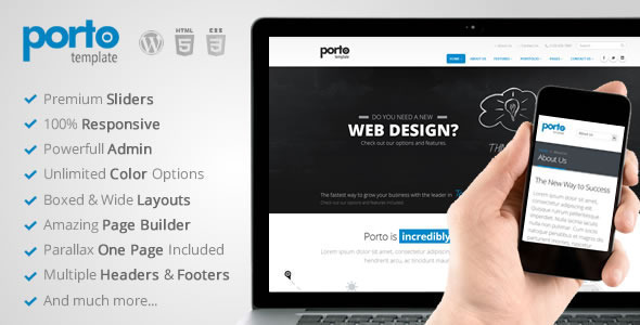 Porto Multipurpose Responsive WordPress Theme