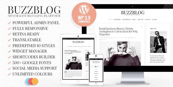 BuzzBlog - Clean & Personal WordPress Blog Theme