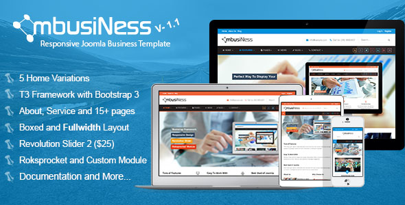 MbusiNess - Responsive Joomla Business Template
