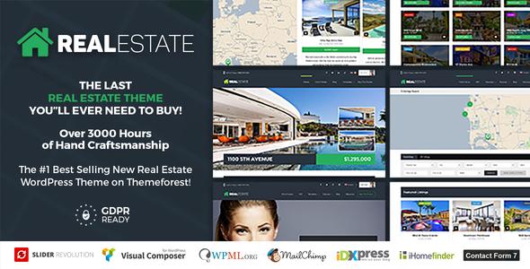Real Estate 7 - Real Estate WordPress Theme