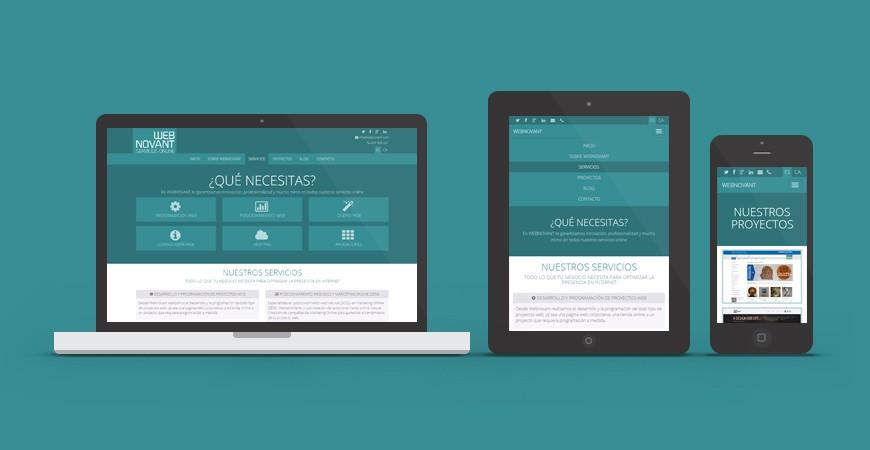 Nuevo logo y nuevo diseño web para Webnovant