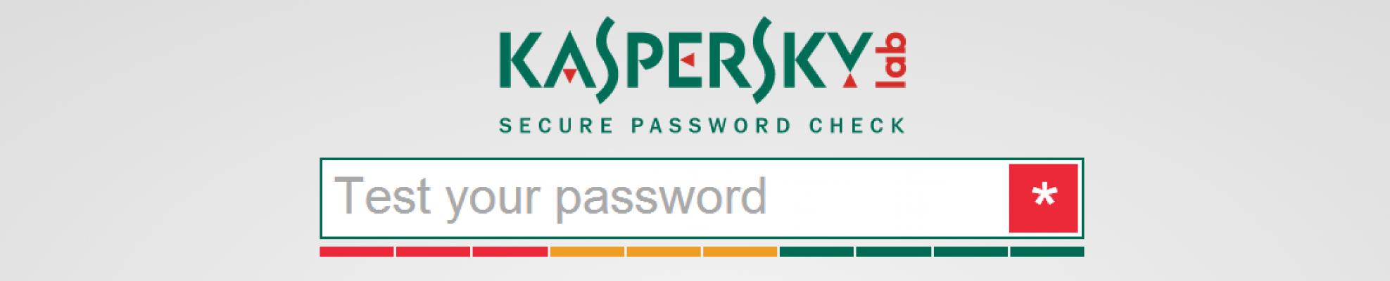 Kaspersky Lab: Comprueba la seguridad de tu contraseña